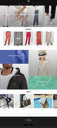 服装外贸网站模板