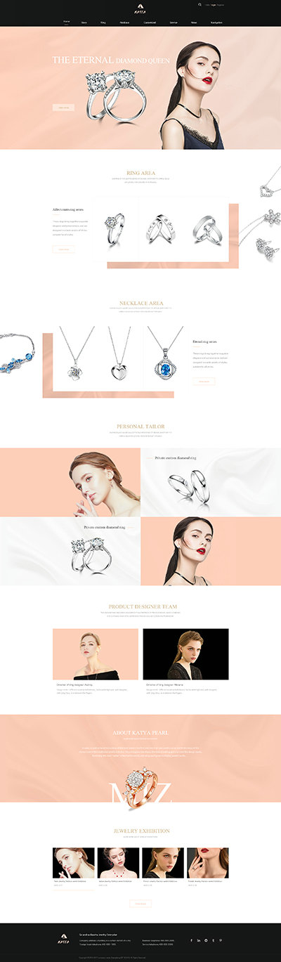 珠宝饰品外贸网站模板