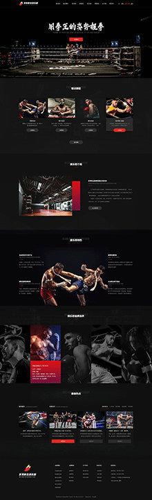 拳击精美模板_拳击H5网站模板